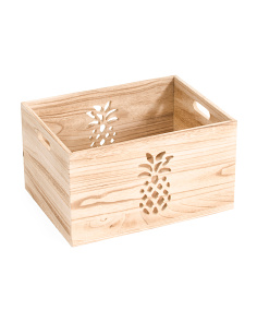 Medium Pineapple Cut Out Storage Bin