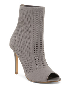 Stretch Knit Perforated Bootie