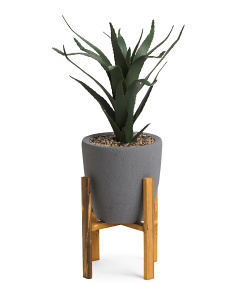 Potted Faux Agave Plant