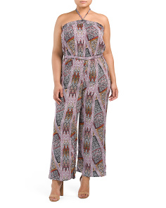 Plus Juniors Fiesta Printed Jumpsuit