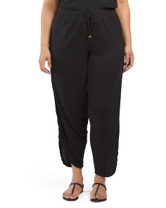Plus Juniors Side Split Harem Pants