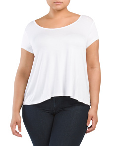 Plus Juniors Criss Cross Back Tee