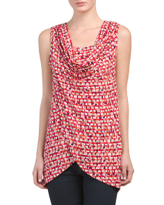 Grid Printed Cross Front Tank