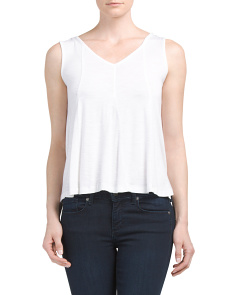 Slub Seamed Swing Tee