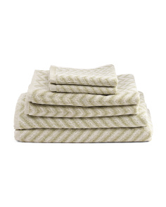 6pc Chevron Towel Set