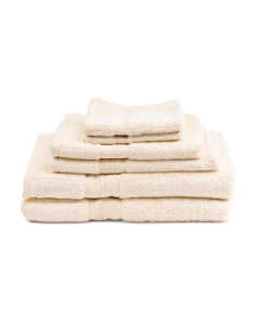 6pc Luxe Hotel Towel Set