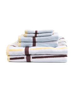 6pc Terry Velour Towel Set