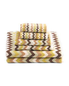 6pc Zigzag Towel Set