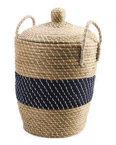 Large Lidded Seagrass Storage Hamper