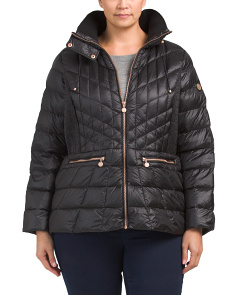 Plus Quilted Puffer Jacket