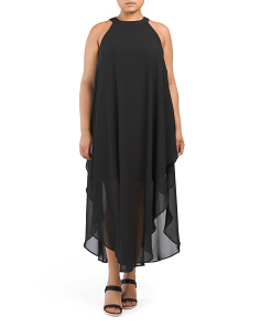 Plus Juniors Halter Maxi Dress