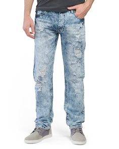 Rip & Repair Acid Wash Denim Jeans