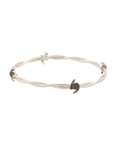 Made In UK Sterling Silver Sapphire Barb Bangle Bracelet