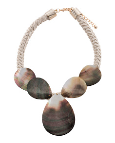 Abalone And Rope Necklace