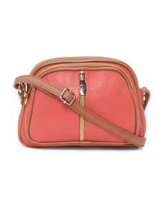 Made In Italy Small Vachetta Leather Crossbody