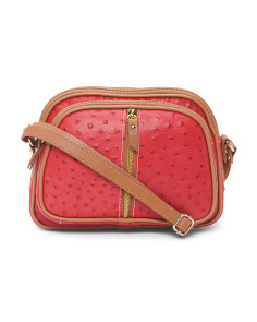 Made In Italy Vachetta Small Leather Crossbody