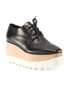 Made In Italy Lace Up Platform Sneakers