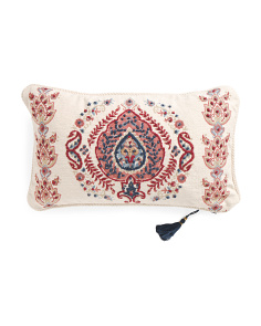 Made In India 14x24 Cassandra Embroidered Pillow