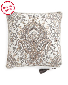 20x20 Bordeaux Reversible Embroidered Pillow