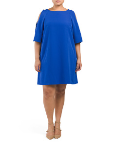 Plus Cold Shoulder Shift Dress