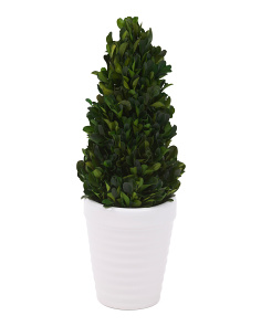 Faux Boxwood Tower