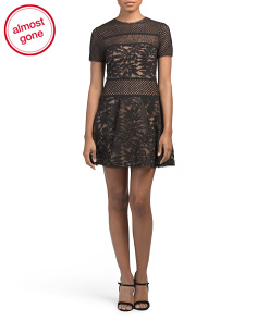 Eleanor Short Sleeve Lace Dress