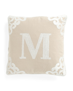 Made In India 20x20 Monogram Pillow