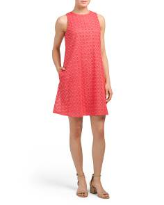 Medallion Eyelet Lace Dress
