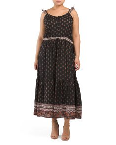 Plus Juniors Paisley Maxi Dress
