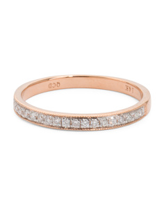 14k Rose Gold Diamond Band Ring