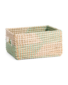 Medium Seagrass Shelf Storage Tote