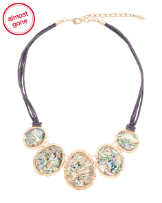 Abalone Corded Statement Necklace