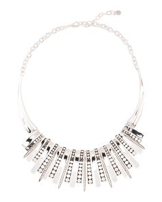 Antique Silver Tone Statement Necklace