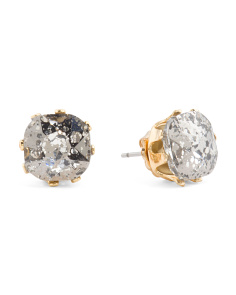 Black Diamond Crystal 8 Prong Stud Earrings
