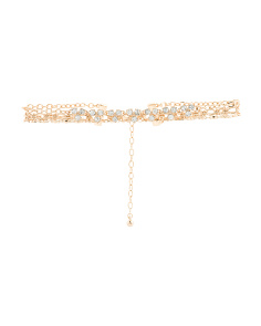 Crystal Embellished Chain Choker Necklace