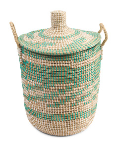 Medium Tribal Seagrass Storage Hamper