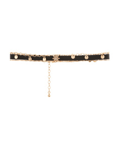 Set Of 3 Choker Necklaces In Gold Tone