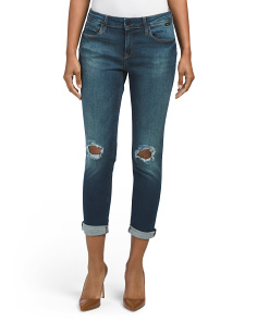 Petite Ada Destructed Boyfriend Jeans