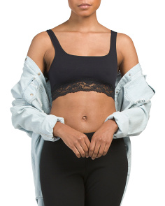 Juniors Lace Trim Bralette