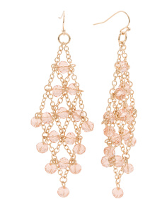 Crystal Embellished Chain Kite Drop Earrings
