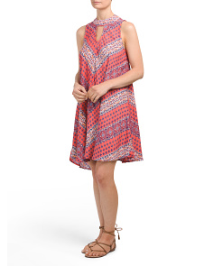 Juniors Gigi Neck Swing Dress