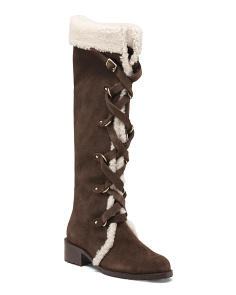 Waterproof Suede High Shaft Boots