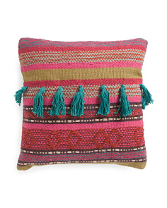 Made In India 20x20 Woven Pillow
