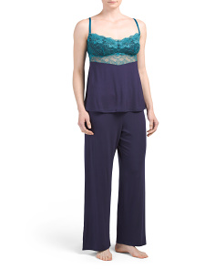 Lace Bust Cami With Pants Set