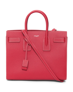 Made In Italy Classic De Jour Leather Bag