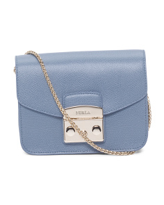 Made In Italy Metropolis Mini Leather Crossbody