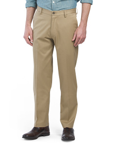 Signature Stretch Straight Flat Front Pants
