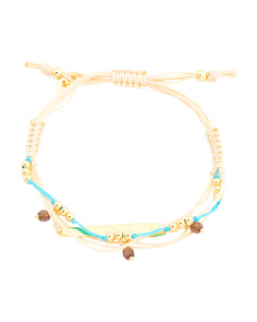 18k Gold Plated Sterling Silver Multi Beaded Bracelet