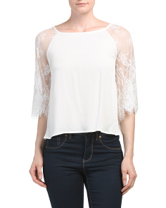 Juniors Golding Lace Top