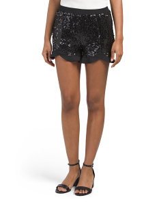Juniors Sequined Cristo Shorts